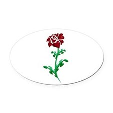 Autism Heart Rose Oval Car Magnet