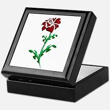 Autism Heart Rose Keepsake Box