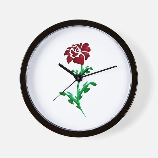 Autism Heart Rose Wall Clock