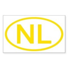 Netherlands - NL Oval Rectangle Decal