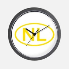 Netherlands - NL Oval Wall Clock