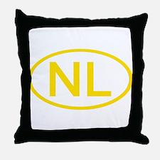 Netherlands - NL Oval Throw Pillow
