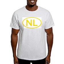 Netherlands - NL Oval Ash Grey T-Shirt