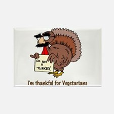 Thankful for Vegetarians Rectangle Magnet (100 pac