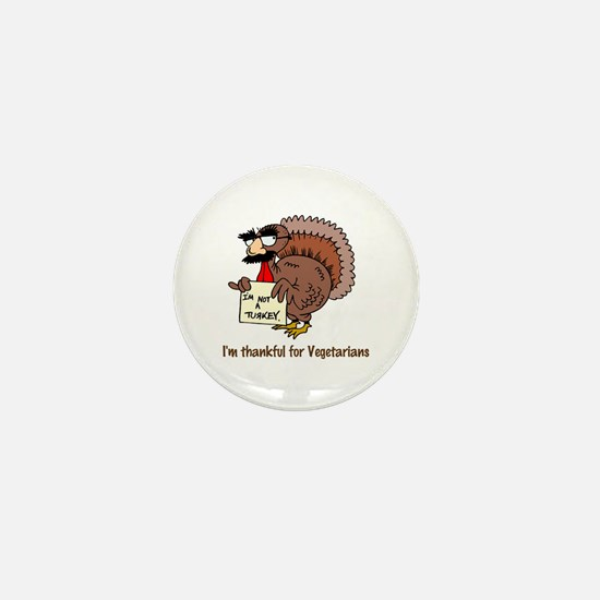 Thankful for Vegetarians Mini Button (10 pack)