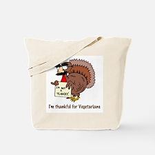 Thankful for Vegetarians Tote Bag