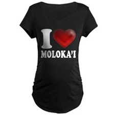 I Heart Molokai Maternity T-Shirt
