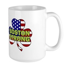 Boston Strong Shamrock Flag Mug