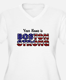 Boston Strong Flag - Personalized! Plus Size T-Shi