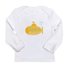 Yellow submarine with bubbles Long Sleeve T-Shirt