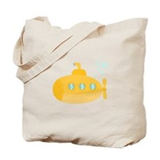 Yellow submarine with bubbles Tote Bag
