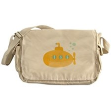 Yellow submarine with bubbles Messenger Bag