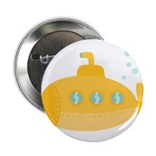 "Yellow submarine with bubbles 2.25"" Button"