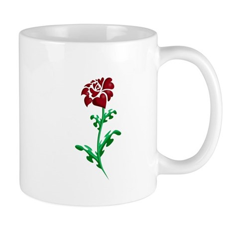 Autism Heart Rose Mug