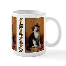 Cat With Butterfly Mug Mugs