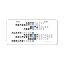 NCIS CROSSWORD PUZZLE Aluminum License Plate