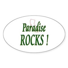 Paradise Rocks ! Oval Decal