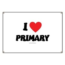 I Love Primary - LDS Clothing - LDS T-Shirts Banne