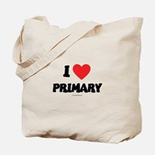 I Love Primary - LDS Clothing - LDS T-Shirts Tote