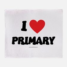 I Love Primary - LDS Clothing - LDS T-Shirts Throw