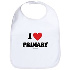 I Love Primary - LDS Clothing - LDS T-Shirts Bib