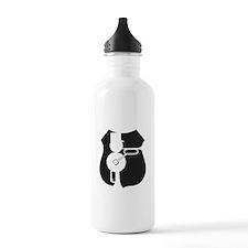 UP Railmen Alumni Logo Black on White Water Bottle