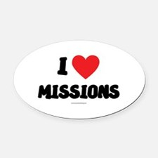 I Love Missions - LDS Clothing - LDS T-Shirts Oval