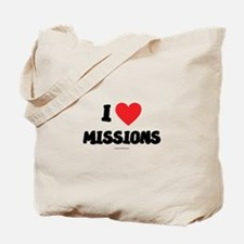 I Love Missions - LDS Clothing - LDS T-Shirts Tote