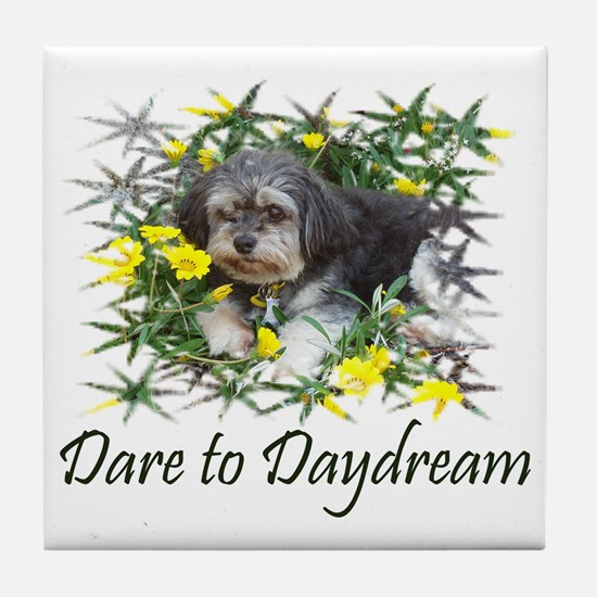 Dare to Daydream Dog Tile Coaster