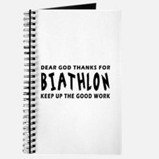 Dear God Thanks For Biathlon Journal