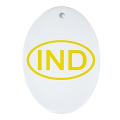 India - IND Oval Oval Ornament
