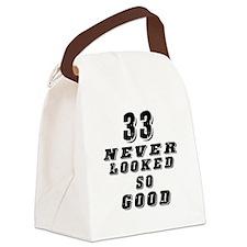 33 Birthday Designs Canvas Lunch Bag