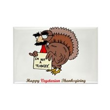 Happy Vegetarian Thanksgiving Rectangle Magnet
