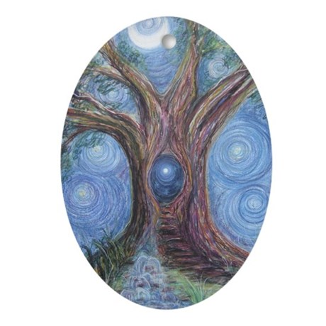 Magical Womb Tree Oval Ornament