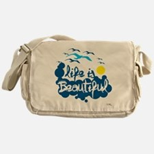 Life is beautiful Messenger Bag