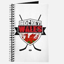 Ice Hockey Wales Flag Shield Journal