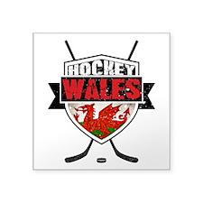 Ice Hockey Wales Flag Shield Sticker