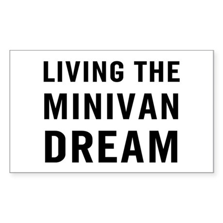 Living Minivan Sticker (Rectangle)