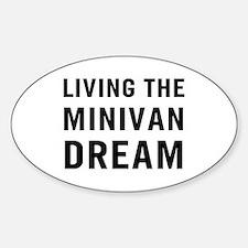 Living Minivan Sticker (Oval)