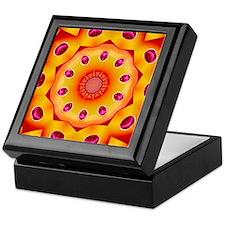 Orange and Burgundy Kaleidoscope Mandala Keepsake