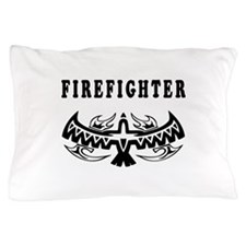 Firefighter Eagle Tattoo Pillow Case