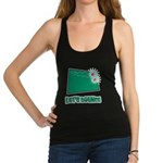 Lets Bounce Dice.png Racerback Tank Top