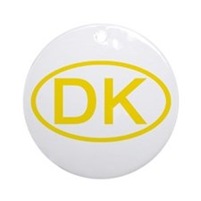 Denmark - DK Oval Ornament (Round)
