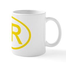 Croatia - HR Oval Mug