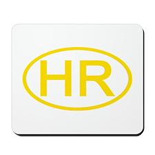 Croatia - HR Oval Mousepad