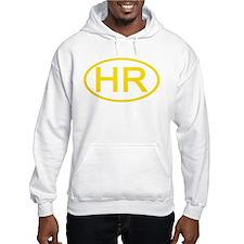 Croatia - HR Oval Hoodie