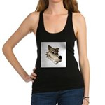 wolf smiling copy.jpg Racerback Tank Top