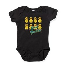 just ducky.png Baby Bodysuit
