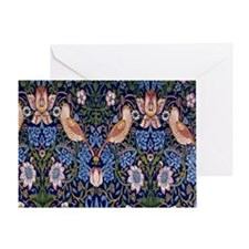 William Morris Strawberry Thief Greeting Card