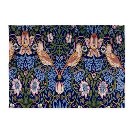 William Morris Strawberry Thief 5u0027x7u0027Area Rug